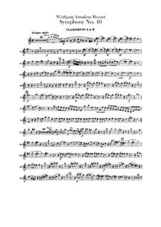 Vollständiger Teile: Klarinettenstimmen by Wolfgang Amadeus Mozart
