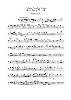 Sinfonie Nr.41 in C-Dur 'Jupiter', K.551: Fagottstimmen by Wolfgang Amadeus Mozart