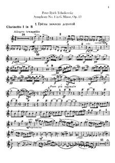 Sinfonie Nr.1 in g-Moll 'Winterträume', TH 24 Op.13: Klarinettenstimmen by Pjotr Tschaikowski