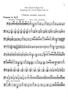 Sinfonie Nr.1 in g-Moll 'Winterträume', TH 24 Op.13: Schlagzeugstimmen by Pjotr Tschaikowski