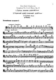 Sinfonie Nr.1 in g-Moll 'Winterträume', TH 24 Op.13: Posaunen- und Tubastimmen by Pjotr Tschaikowski