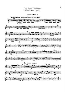 Slawischer Marsch, TH 45 Op.31: Kornettstimmen by Pjotr Tschaikowski
