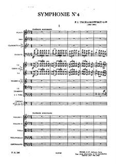 Sinfonie Nr.4 in f-Moll, TH 27 Op.36: Vollpartitur by Pjotr Tschaikowski