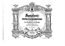 Sinfonie Nr.4 in f-Moll, TH 27 Op.36: Für Klavier, vierhändig by Pjotr Tschaikowski