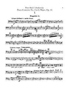 Konzert für Klavier und Orchester Nr.2 in G-Dur, TH 60 Op.44: Fagottstimmen by Pjotr Tschaikowski