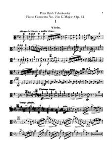 Konzert für Klavier und Orchester Nr.2 in G-Dur, TH 60 Op.44: Bratschenstimme by Pjotr Tschaikowski