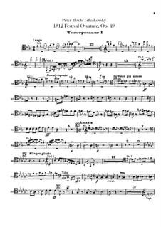 1812. Festliche Ouvertüre, TH 49 Op.49: Posaune- und Tubastimmen by Pjotr Tschaikowski