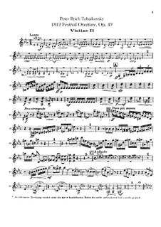 1812. Festliche Ouvertüre, TH 49 Op.49: Violinstimmen II by Pjotr Tschaikowski