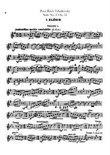 Suite Nr.3 in G-Dur, TH 33 Op.55: Violinstimme I by Pjotr Tschaikowski