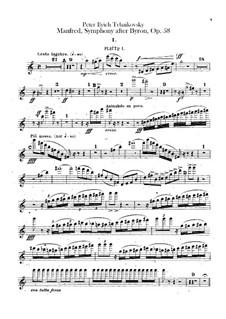 Manfred-Sinfonie, TH 28 Op.58: Flötenstimmen by Pjotr Tschaikowski