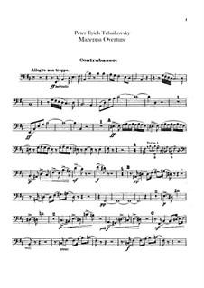 Mazepa, TH 7: Ouvertüre – Kontrabassstimme by Pjotr Tschaikowski