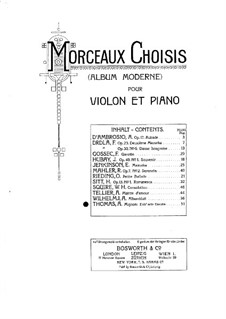 Mignon: Gavotte, for Violin and Piano by Ambroise Thomas