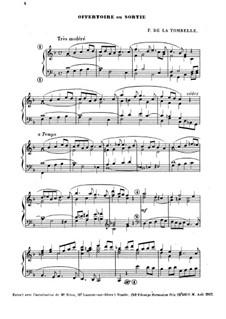 Offertoire ou sortie: Offertoire ou sortie by Fernand de La Tombelle