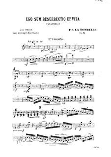 Ego sum resurrectio et vita. Paraphrase für Orgel und Orchester, Op.34: Violinstimme II by Fernand de La Tombelle