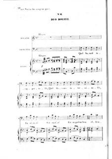 Les bavards (Die Schwätzer): Akt I Nr.6, für Stimmen und Klavier by Jacques Offenbach