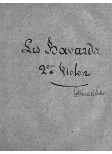 Les bavards (Die Schwätzer): Violinstimme II by Jacques Offenbach