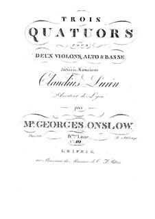 Drei Streichquartette Nr.10-12, Op.10: Stimmen by Georges Onslow