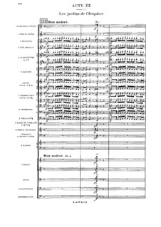 Cléopâtre: Akt III by Jules Massenet