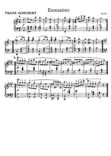 Sechzehn Ländler und zwei Ecossaises, D.734 Op.67: Ecossaise Nr.1 by Franz Schubert