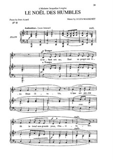 Le noël des humbles: In F-Dur by Jules Massenet