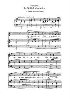 Le noël des humbles: In G-Dur by Jules Massenet