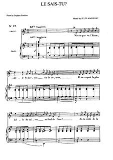 Le sais-tu: In G-Dur by Jules Massenet