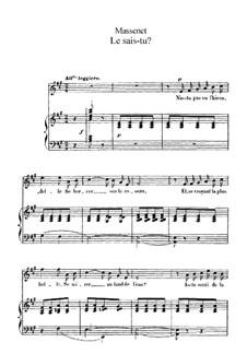 Le sais-tu: In A-Dur by Jules Massenet