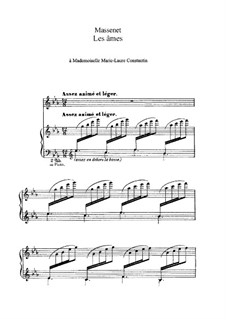 Les âmes: In Es-Dur by Jules Massenet