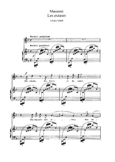 Les extases: In F-Dur by Jules Massenet