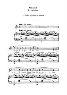 Les mains: In B-Dur by Jules Massenet