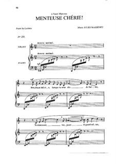 Menteuse chérie: In C-Dur by Jules Massenet