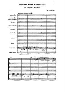 Suite für Orchester Nr.1, Op.13: Suite für Orchester Nr.1 by Jules Massenet