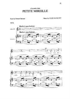 Petite Mireille: In C-Dur by Jules Massenet