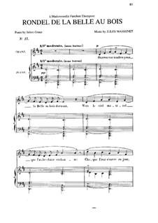 Rondel de la belle au bois: in D-Dur by Jules Massenet