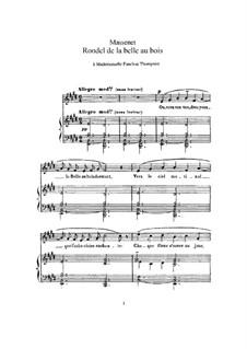 Rondel de la belle au bois: In E Major by Jules Massenet
