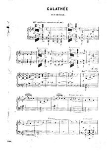Galathee: Bearbeitung für Klavier by Victor Massé