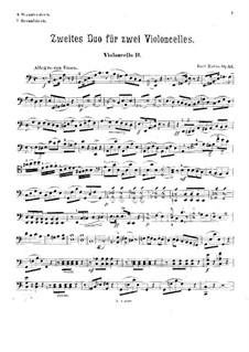 Duett für zwei Cellos, Op.53: Cellostimme II by Karl Matys