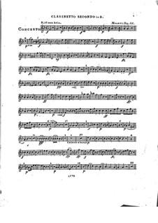 Konzert für Klavier und Orchester Nr.2 in Es-Dur, Op.25: Klarinettenstimme II by Franz Xaver Wolfgang Mozart