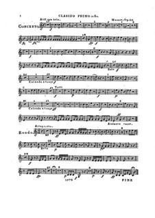 Konzert für Klavier und Orchester Nr.2 in Es-Dur, Op.25: Clarinostimme I by Franz Xaver Wolfgang Mozart