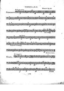 Konzert für Klavier und Orchester Nr.2 in Es-Dur, Op.25: Paukenstimme by Franz Xaver Wolfgang Mozart