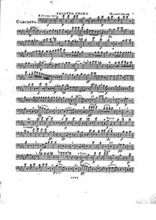 Konzert für Klavier und Orchester Nr.2 in Es-Dur, Op.25: Fagottstimme I by Franz Xaver Wolfgang Mozart