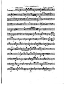 Konzert für Klavier und Orchester Nr.2 in Es-Dur, Op.25: Fagottstimme II by Franz Xaver Wolfgang Mozart