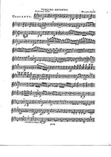 Konzert für Klavier und Orchester Nr.2 in Es-Dur, Op.25: Violinstimme II by Franz Xaver Wolfgang Mozart