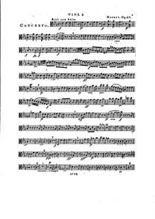 Konzert für Klavier und Orchester Nr.2 in Es-Dur, Op.25: Violastimme by Franz Xaver Wolfgang Mozart