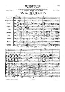 Benedictus sit Deus. Offertorium in C-Dur, K.117: Benedictus sit Deus. Offertorium in C-Dur by Wolfgang Amadeus Mozart