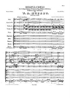 Regina Coeli, K.127: Regina Coeli by Wolfgang Amadeus Mozart