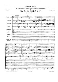 Tantum ergo in B-Dur, K.142: Tantum ergo in B-Dur by Wolfgang Amadeus Mozart