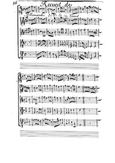 Allemande für Streicher in D-Dur: Allemande für Streicher in D-Dur by Michel Mazuel