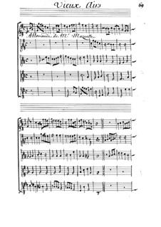 Allemande für Streicher in G-Dur: Allemande für Streicher in G-Dur by Michel Mazuel