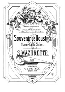 Souvenir de Houston, Op.119: Souvenir de Houston by Salomon Mazurette